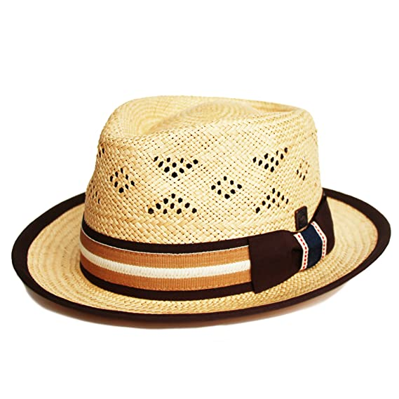 Dasmarca Natural Straw Summer Fedora hat  Amazon.co.uk  Clothing 4b3e51c37f9d