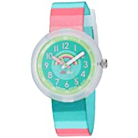 Kids' Birthday Party Quartz Polyester Strap, Green, 14 Casual Watch (Model: ZFPNP014)