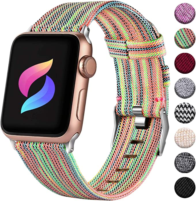 Haveda Compatible for Apple Watch Series 4 Series 5 40mm Band, Apple 5 Watch Bandsiwatch Bands 38mm , Sport Cloth Dressy for Apple Watch Series 3 Series 2/1 Men Girls