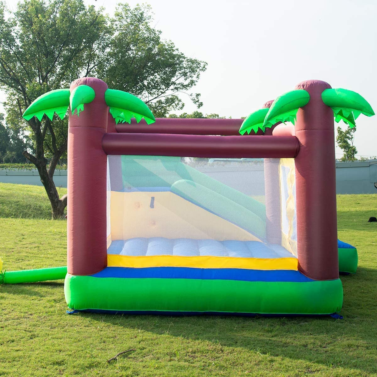 Amazon.com: costzon inflable Jungle rebote casa Jump y ...