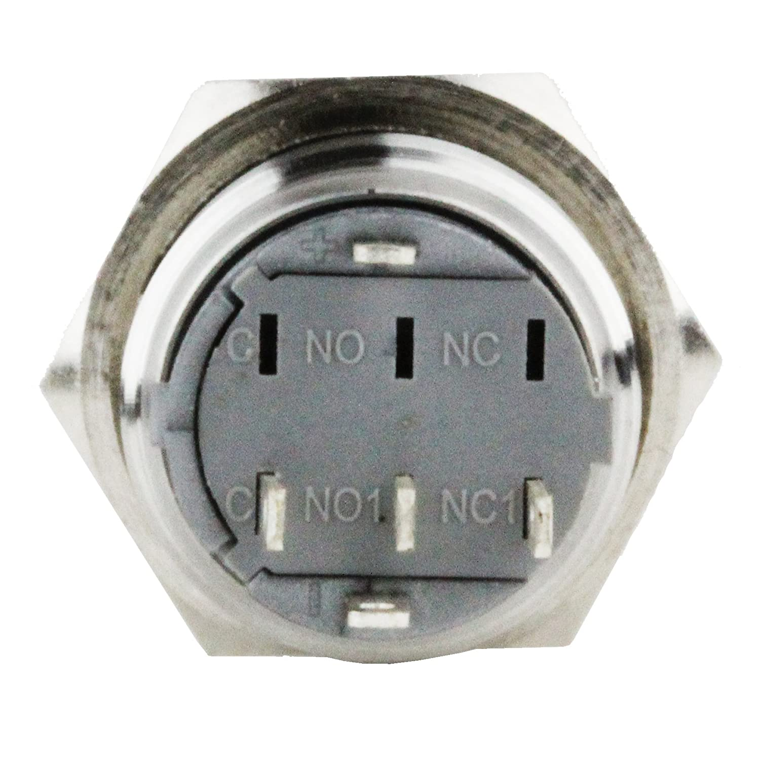 Splash Resistant 16mm Power Push Button On Off Latching Wiring A Lamp Switch W 12v Red Led Symbol Head From Us Solid Automotive