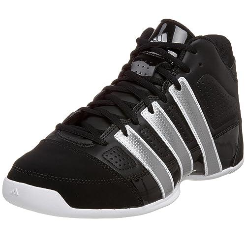 new style 4be4f 9b76e Adidas Mens Commander Lite TD Basketball Shoe,BlackMetallic SilverRun  White,