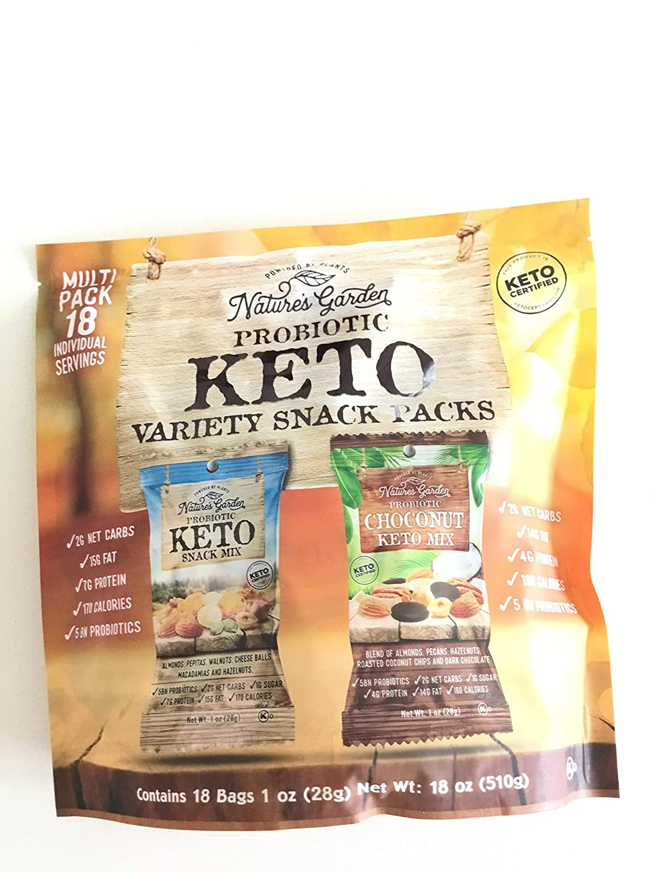 Nature's Garden Probiotic Keto Variety Snack Packs (18 Bags) (Keto Snack Mix; Chocolate Keto Mix)