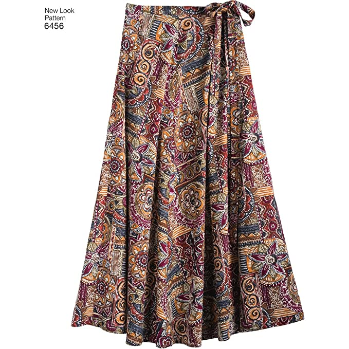 Amazon.com: New Look Patterns Misses Easy Wrap Skirts in Four Lengths A (6-8-10-12-14-16-18) 6456: Arts, Crafts & Sewing