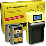 LCD Chargeur + 2x Batterie BLN-1 pour Olympus OM-D E-M1 | OM-D E-M5 | OM-D E-M5 Mark II | Pen E-P5
