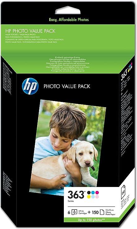 HP Q7966EE#301 - Pack cartucho de tinta y 150 hojas de papel: Hp: Amazon.es: Oficina y papelería