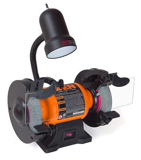 WEN 4276 2.1 Amp 6 Inch Bench Grinder With Flexible Work Light