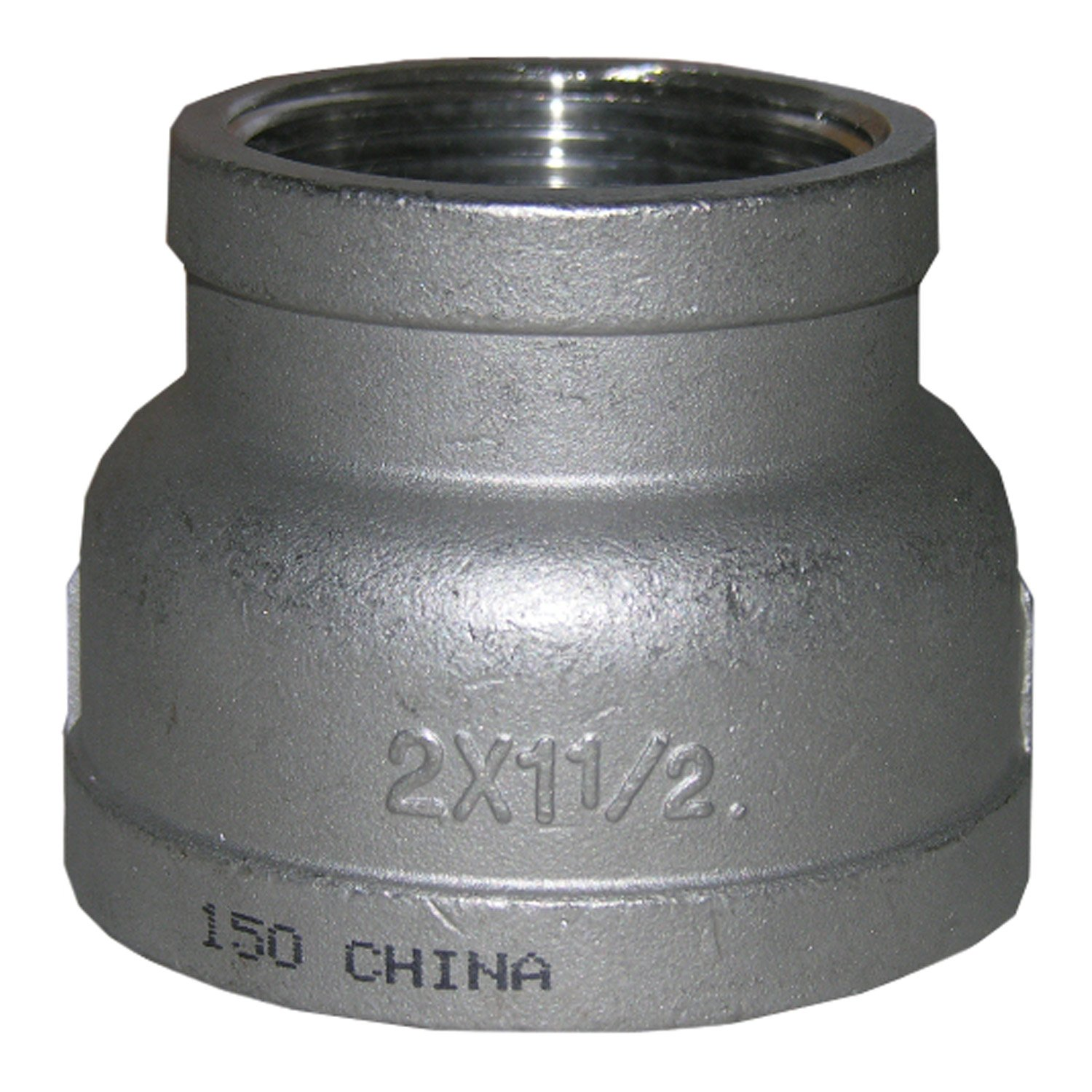 LASCO 32-2814 Stainless Steel Bell Reducer with 2-Inch Female Pipe Thread and 1 1//2-Inch Female Pipe Thread