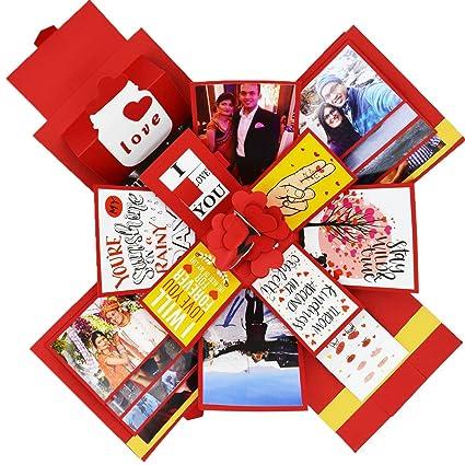 Decut Explosion Box 3 Layered Handmade Explosion Box Romantic Gift