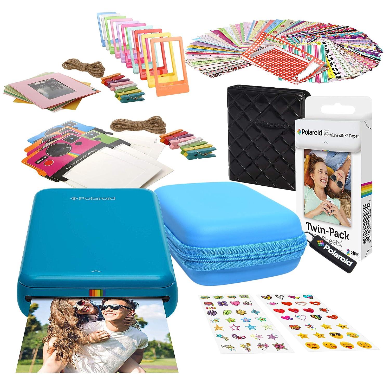 Polaroid Zip Impresora de Fotos Inalámbrica (Azul) Kit de Inicio ...
