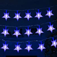 Twinkle Star 100 LED 49 FT Star String Lights, Plug in Fairy String Lights Waterproof, Extendable for Indoor, Outdoor…