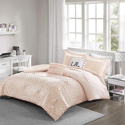 Twin Printed Reversible Comforter Set All-season Down Alternative Fill Bedding