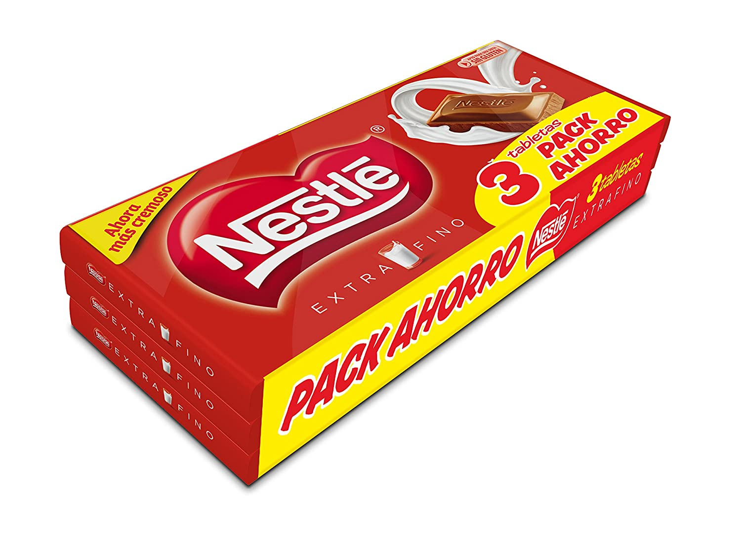 Nestlé Extrafino Chocolate con Leche, Tableta de Chocolate - Tripack ...