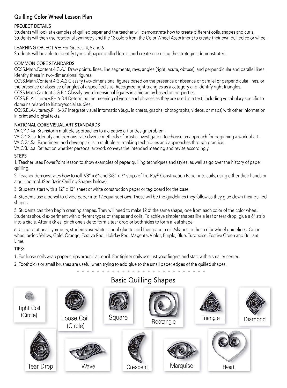 12x18 Tru-Ray 6577 Tru-Ray Heavyweight Construction Paper Color Wheel Assortment 72 Sheets