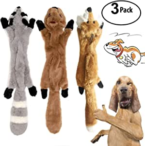 YAMI 3 Pack perro quietsch Extremo Masticación Juguete No relleno ...