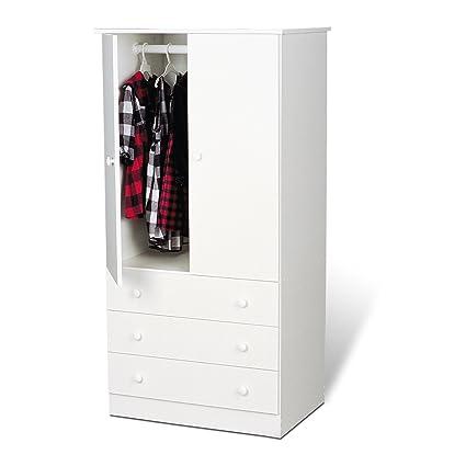 White Edenvale  Drawer Wardrobe