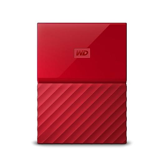 266 opinioni per WD 2TB My Passport Hard Disk Esterno Portatile, USB 3.0, Rosso-