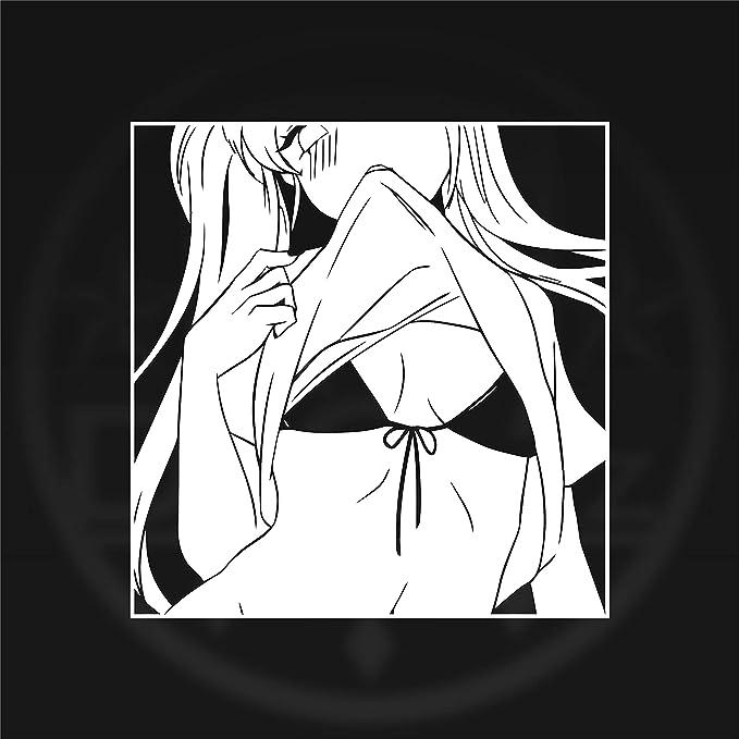 Amazon.com: Lewd Vinyl Sticker Manga ecchi Decal Anime ...