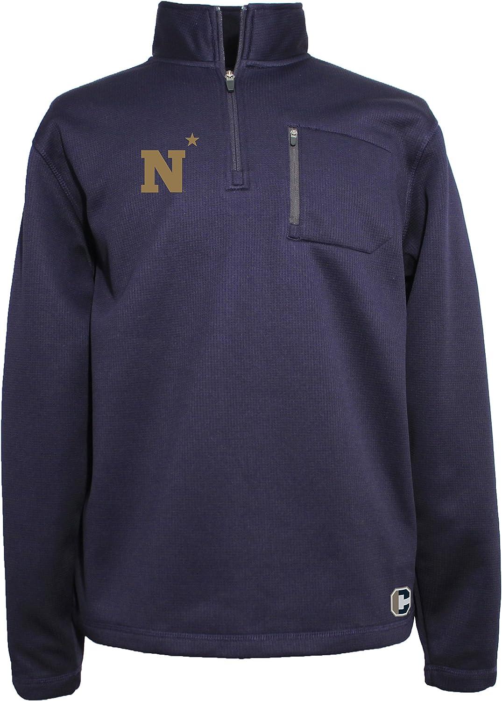 Crable NCAA Mens 1//4 Zip Textured Bonded Jacket
