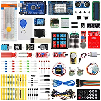 Mega 2560 Arduino Starter Kit Conjunto Mas Completo y Avanzado Arduino Mega Kit Starter Kit Servo Motor Modules Sensores Piezas: Amazon.es: Coche y moto