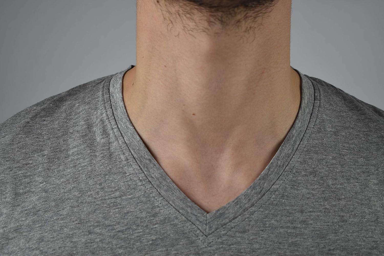 Maglietta Manica Corta di Cotone Confezione da 3 Pezzi Tinta Unita 1stAmerican T-Shirt Intima Scollo a V Elasticizzata da Uomo Mezza Manica