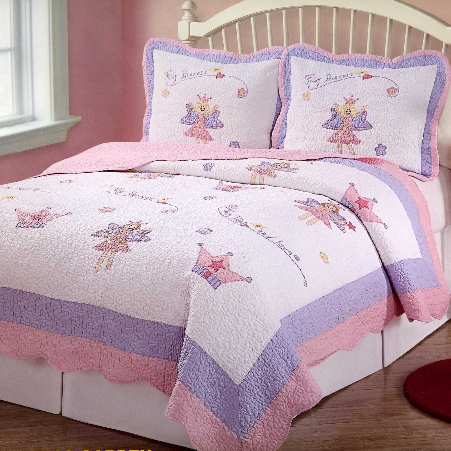 Design Princess Bedding amazon com fairy princess garden twin quilt with pillow sham home kitchen