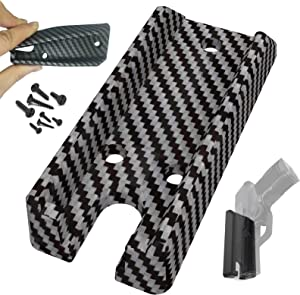 Full Rubber Cover Draw Quick Gun Magnet, Gun Accessories for Pistol Load Fast, No Screw&Drill&Trace Installation in Vehicle,Truck,Car,Home|Concealed Handgun Magnetic Holder with Powerful Adhesive Tape