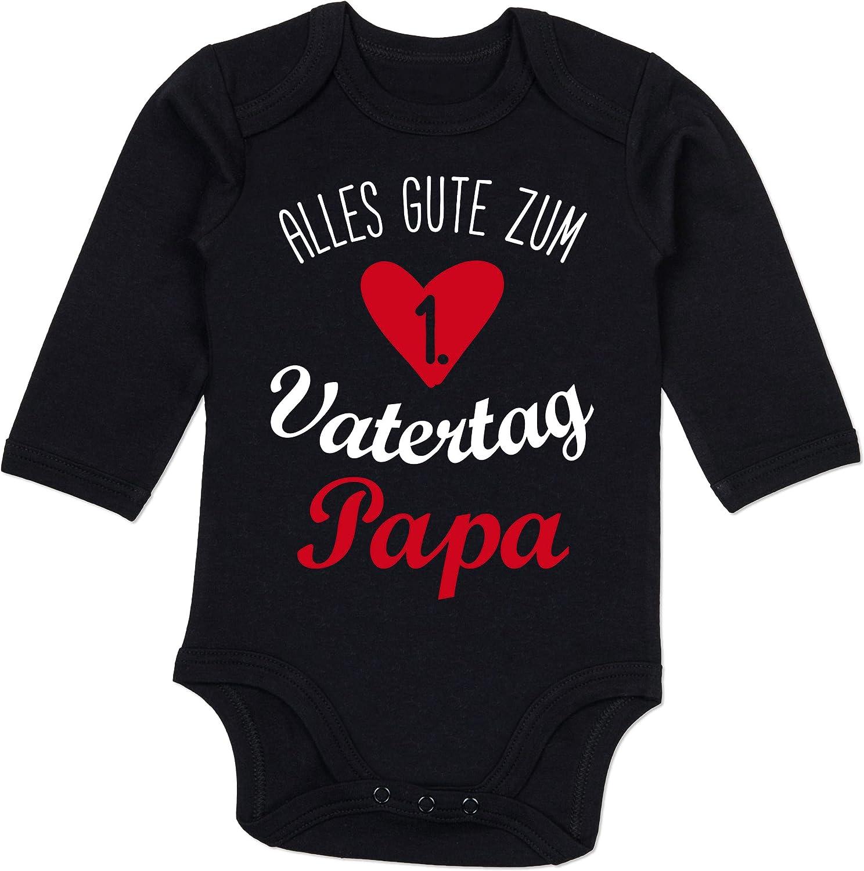 Shirtracer Vatertagsgeschenk Tochter /& Sohn Baby Baby Body Langarm Alles Gute zum ersten Vatertag V1