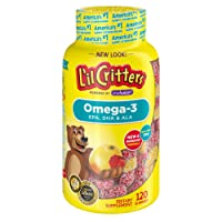 L'il Critters Omega-3 Gummy Fish with DHA, 120-Count Bottles (Pack of 3)