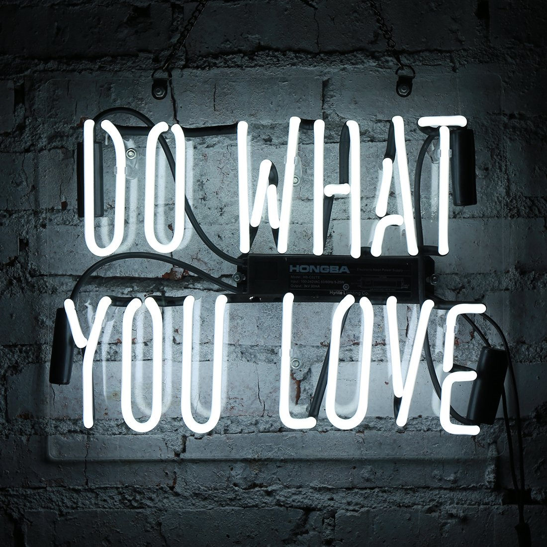 """Neon Bar Lights Amazon: Neon Light Sign Do What You Love White 14"""" X 9"""" Beer Wall"""