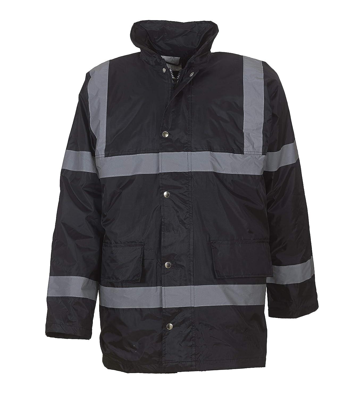 Yoko Mens Hi-vis Security Jacket Fully Waterproof and Windproof HVP301