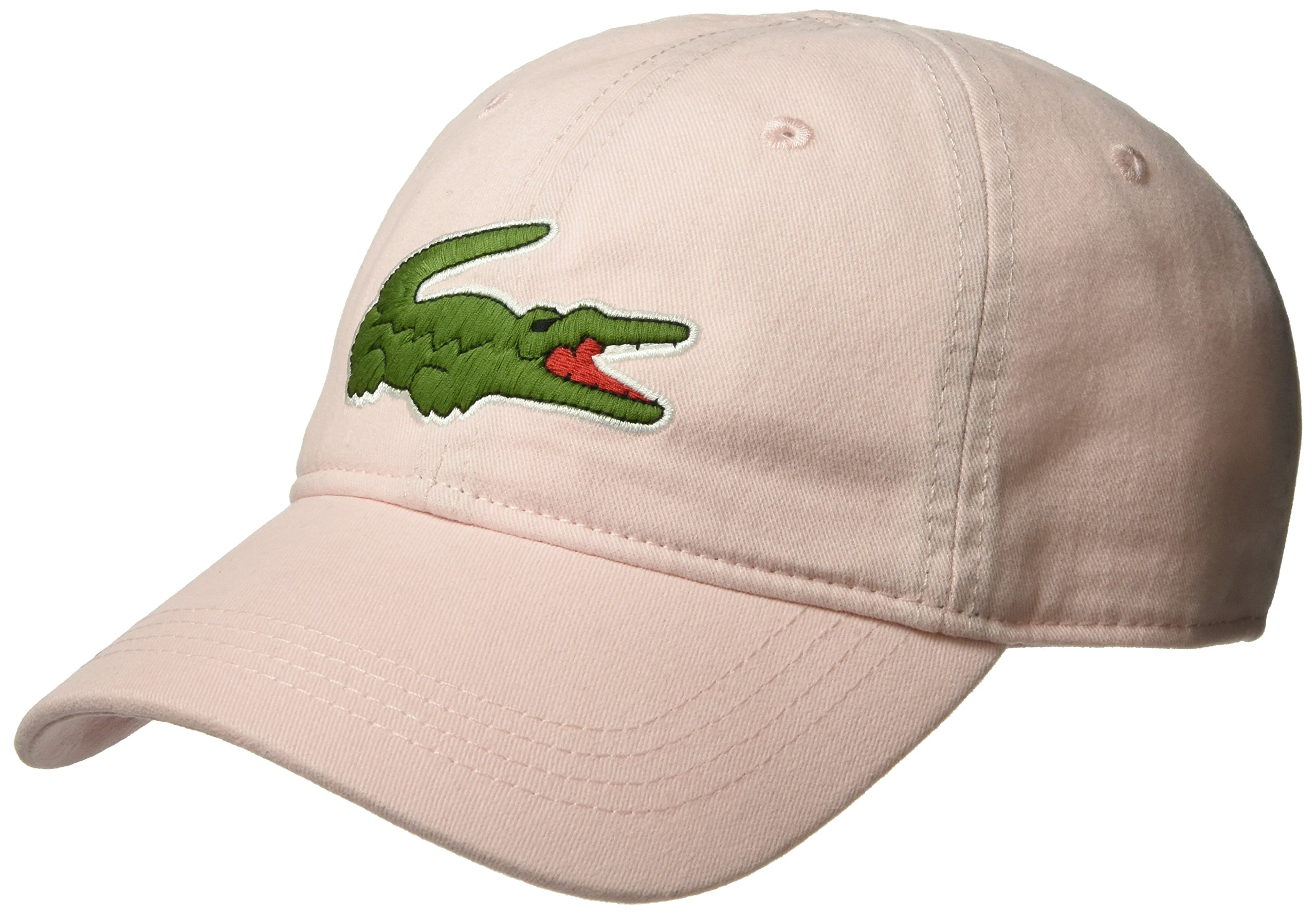 35adf06c Galleon - Lacoste Men's Big Croc Gabardine Cap, Flamingo, One Size
