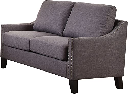 ACME Furniture Acme 53756 Zapata Junior Loveseat, Gray Linen