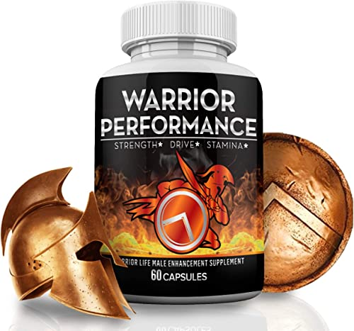 Warrior Performance Men's Testosterone Booster Extreme Blood Flow Performance, Promotes Muscle, Optimizes Natural Stamina, Strength, Energy, Mood 10X Strength Enhancing Pills - 60 Caps