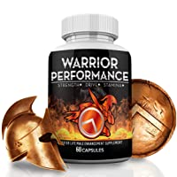 Warrior Performance Men's Testosterone Booster – Extreme Blood Flow Performance, Promotes Muscle, Optimizes Natural Stamina, Strength, Energy, & Mood – 10X Strength Enhancing Pills - 60 Caps