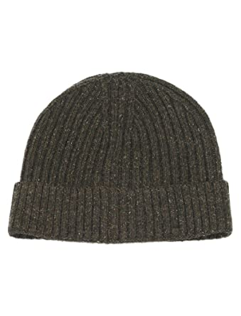 b852eb60 Lovarzi Brown Beanie Hat for Men and Women - Wool & Silk Mix Hat - Mens &  Womens Pull on Hats
