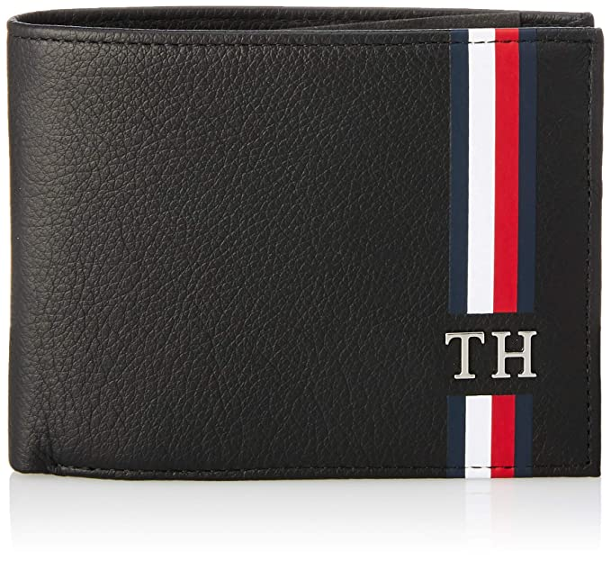 ac26fc81c Tommy Hilfiger - Th Corporate Cc Flap And Coin, Tarjeteros Hombre, Negro  (Black