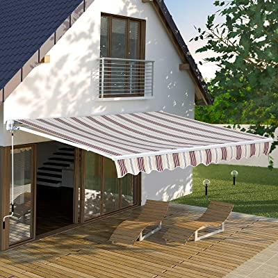 ana1store Tuck Manual 10'x8' Rain Protection Red-Stripe Polyester Fabric Tools Home Improvement Lawn Patio Furniture Accessories Folding Gazebos Pergolas Umbrellas Shade Sails Windows Awnings : Garden & Outdoor