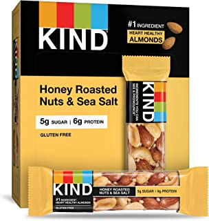 product image for KIND Bars, Honey Roasted Nuts & Sea Salt, Gluten Free, Low Sugar, 4 Count (Pack of 12)