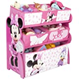 Disney Minnie Mouse Multi-Bin Toy Organizer (Pink)