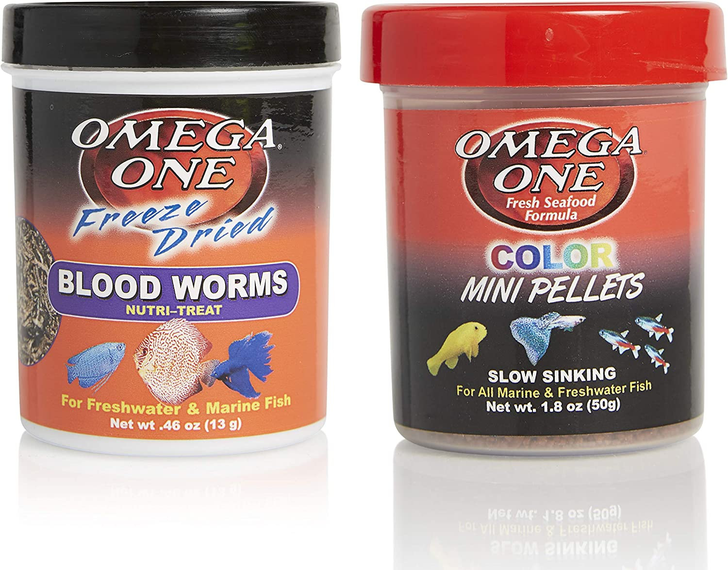 Omega One Guppy Color Combo, Variety Pack of 2