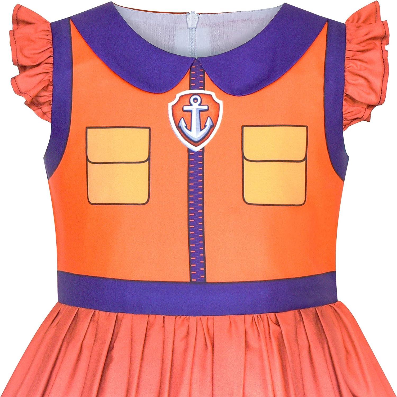 Sunny Fashion Girls Dress Paw Rocky Patrol Costume Halloween Party Age 3 Years