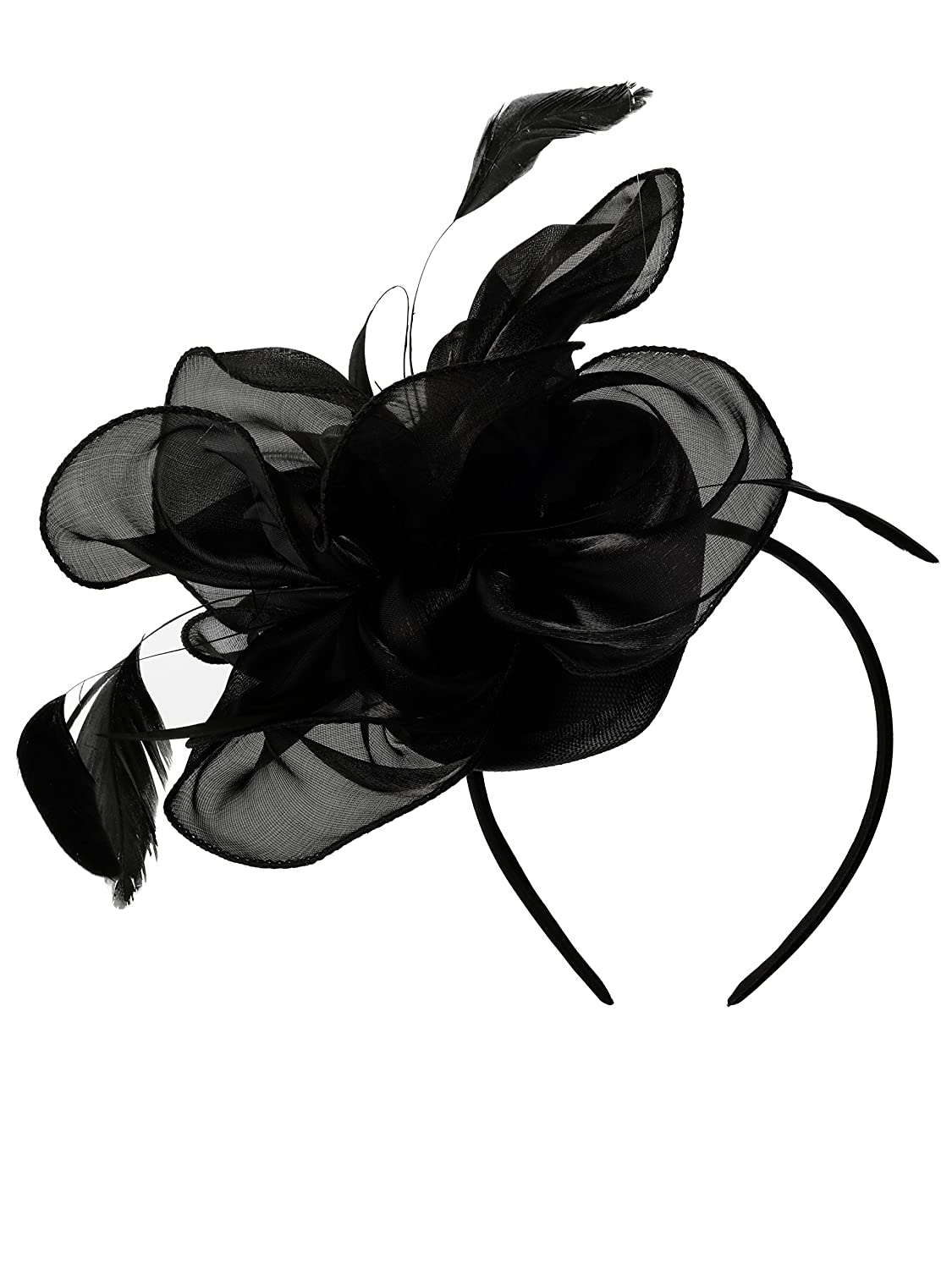 Ladies Day Hat Kentucky Derby Fascinators Tea Party Headband Wedding Cocktail Flower Hair Clip