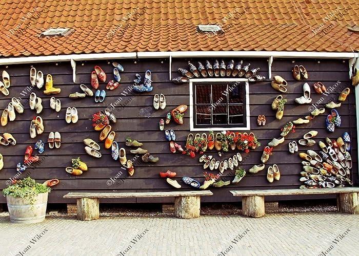 Amazoncom Zaanse Schans Cute Dutch Wooden Shoes Decor On Building