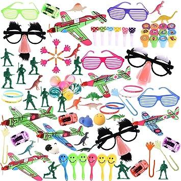Amazon.com: Paquete de 100 juguetes para relleno de piñata o ...