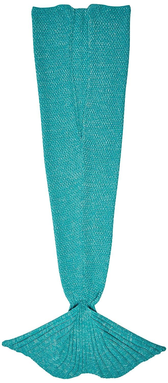 CASOFU Mermaid Tail Blanket, Adult, Thick, Green/Gray 5926138
