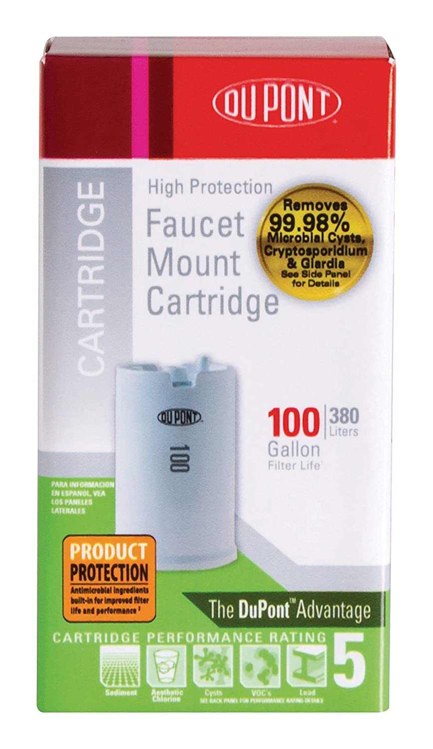 DuPont WFFMC100X High Protection 100-Gallon Faucet Mount Water ...
