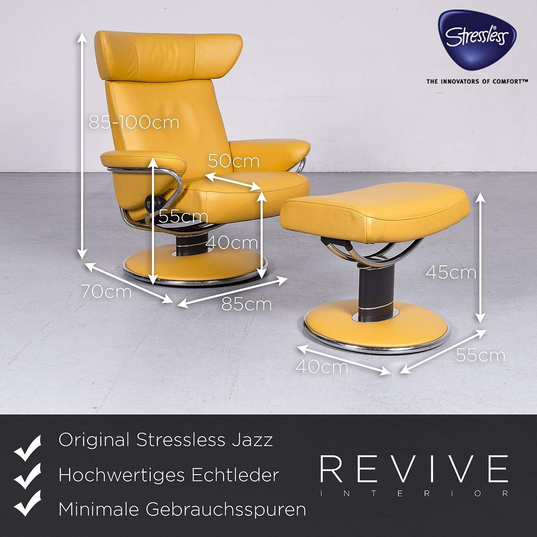 Stressless Jazz Designer Leder Sessel Gelb Echtleder Stuhl ...