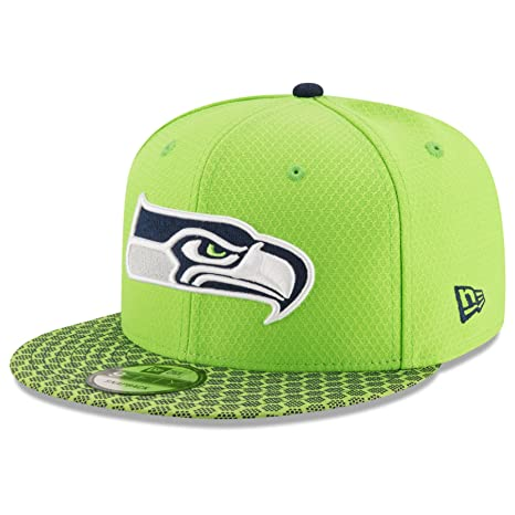 a56cd63ab Image Unavailable. Image not available for. Color  New Era 9Fifty Hat  Seattle Seahawks ...