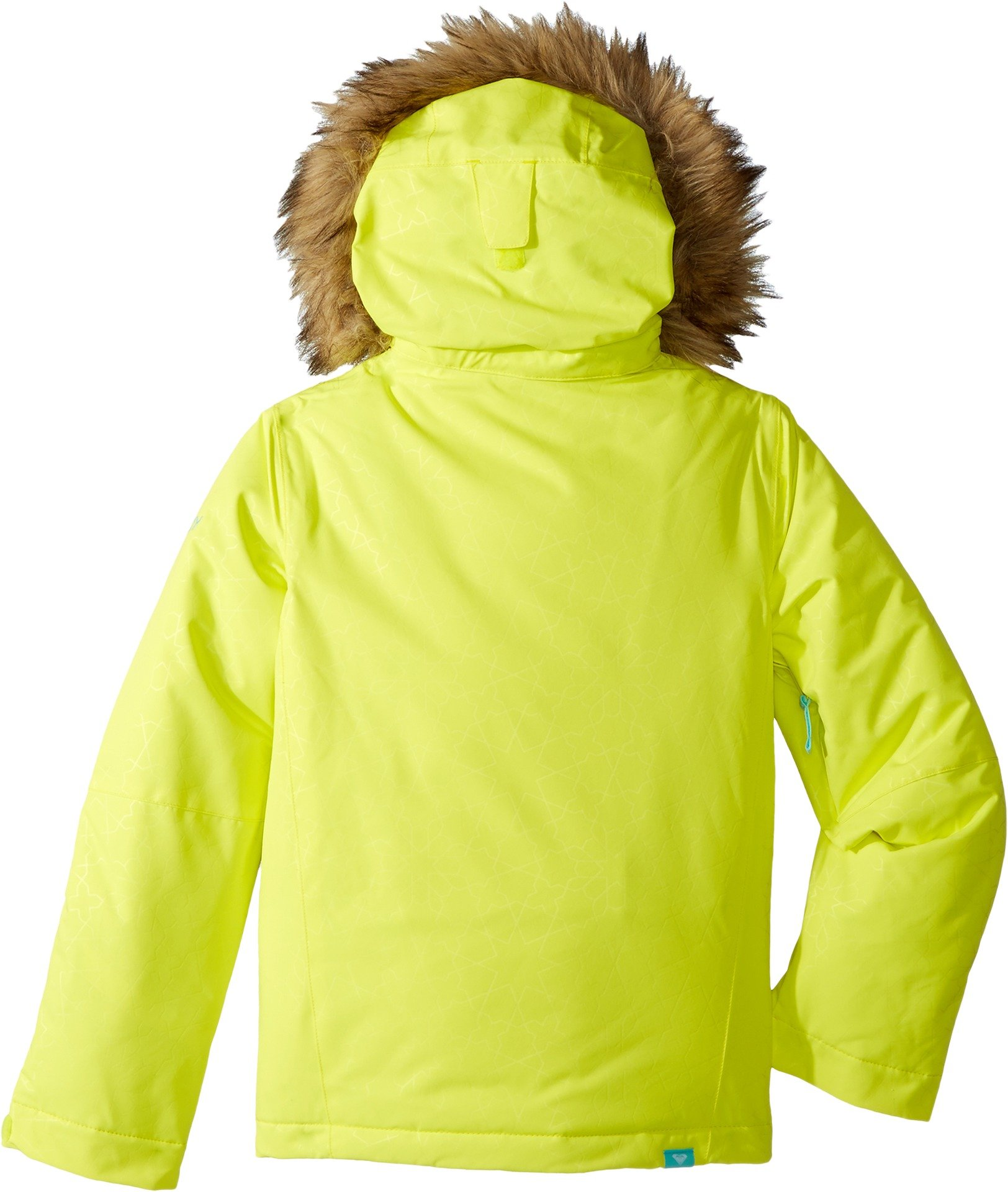 Roxy Big Girls' American Pie Solid Snow Jacket, Lemon Tonic_Gana Emboss, 14/XL by Roxy (Image #2)
